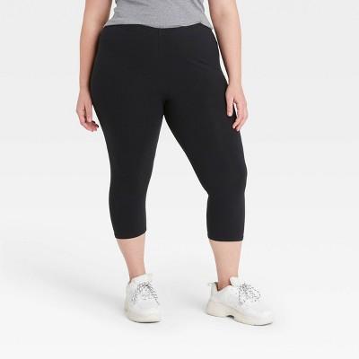 Women's Cotton Capri Leggings - Xhilaration™ Black