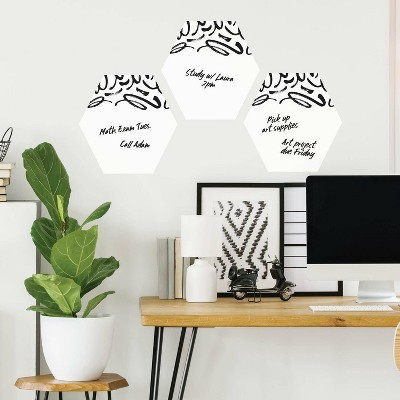 Doodle Dry Erase Hexagon Peel and Stick Wall Decal - RoomMates