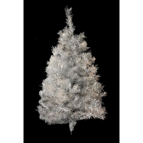 Northlight  3' Unlit Artificial Christmas Tree Silver Tinsel Wall Display - image 1 of 1