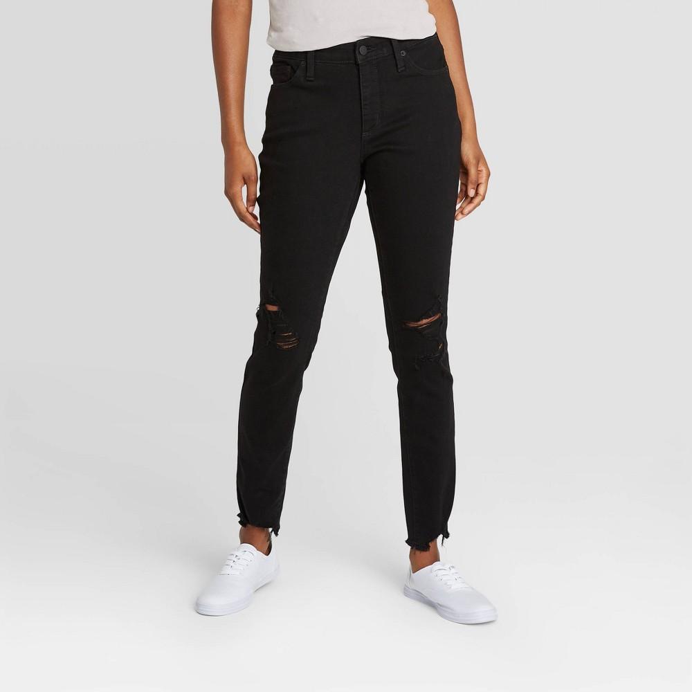 Women 39 S Mid Rise Skinny Jeans Universal Thread 8482 Black 6