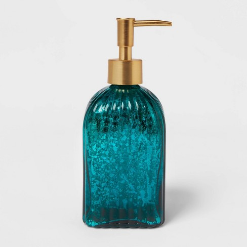 Glass Soap/Lotion Dispenser Teal Blue - Opalhouse™ - image 1 of 4