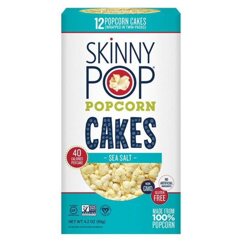 Skinnypop Sea Salt Popcorn Cakes 4 2oz Target