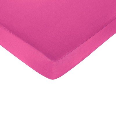 Sweet Jojo Designs Isabella Fitted Crib Sheet - Hot Pink
