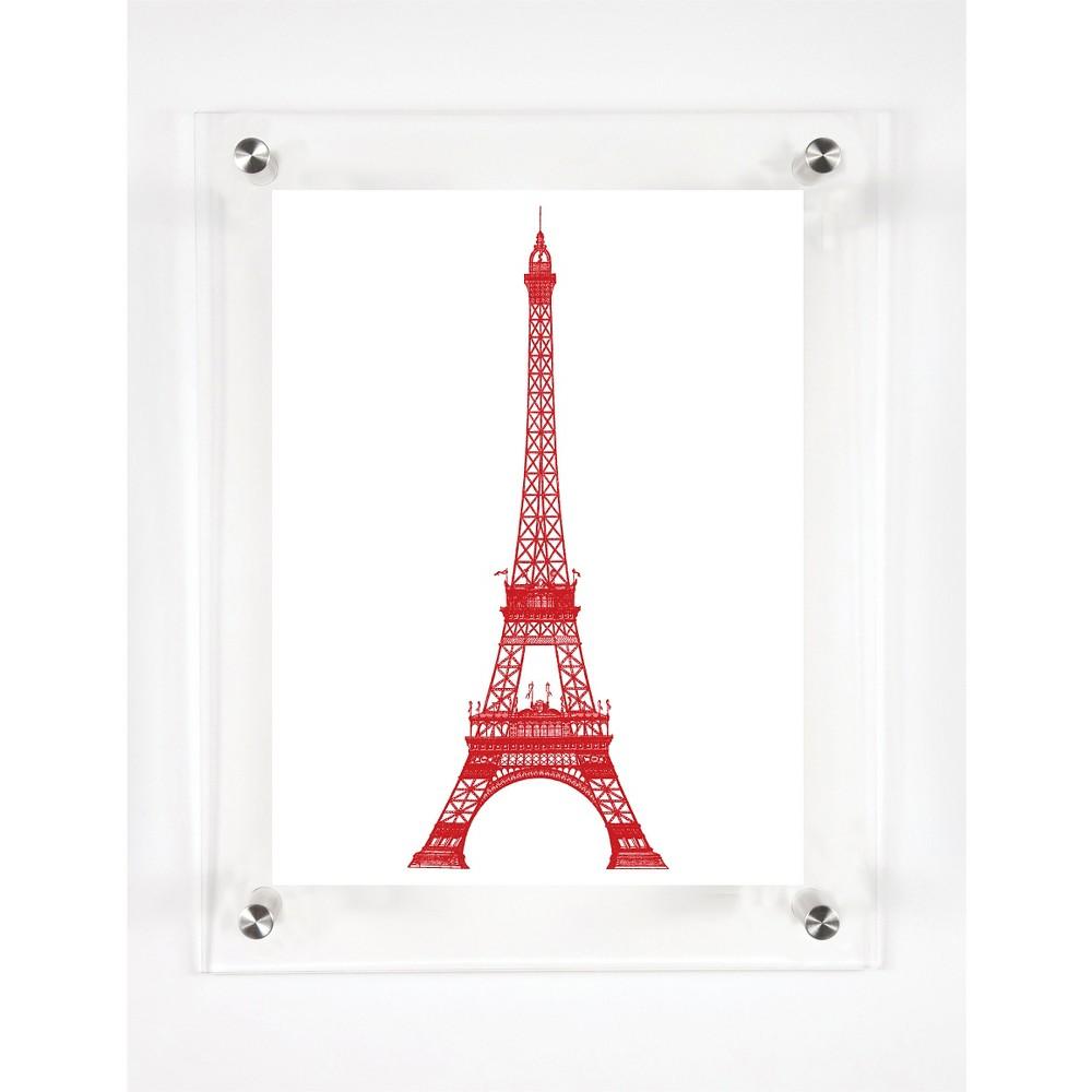 Mitchell Black La Tour Eiffel Decorative Framed Wall Canvas Scarlet (Red) (12