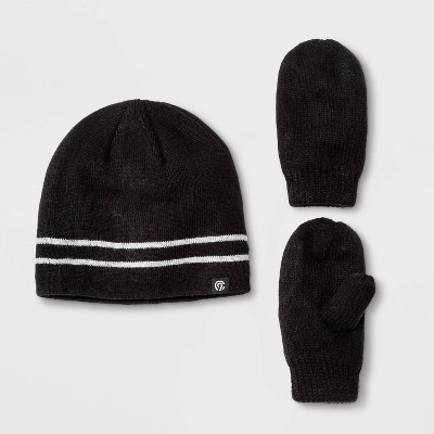 Baby Boys' Hat & Gloves Set - C9 Champion® Black 12-24M