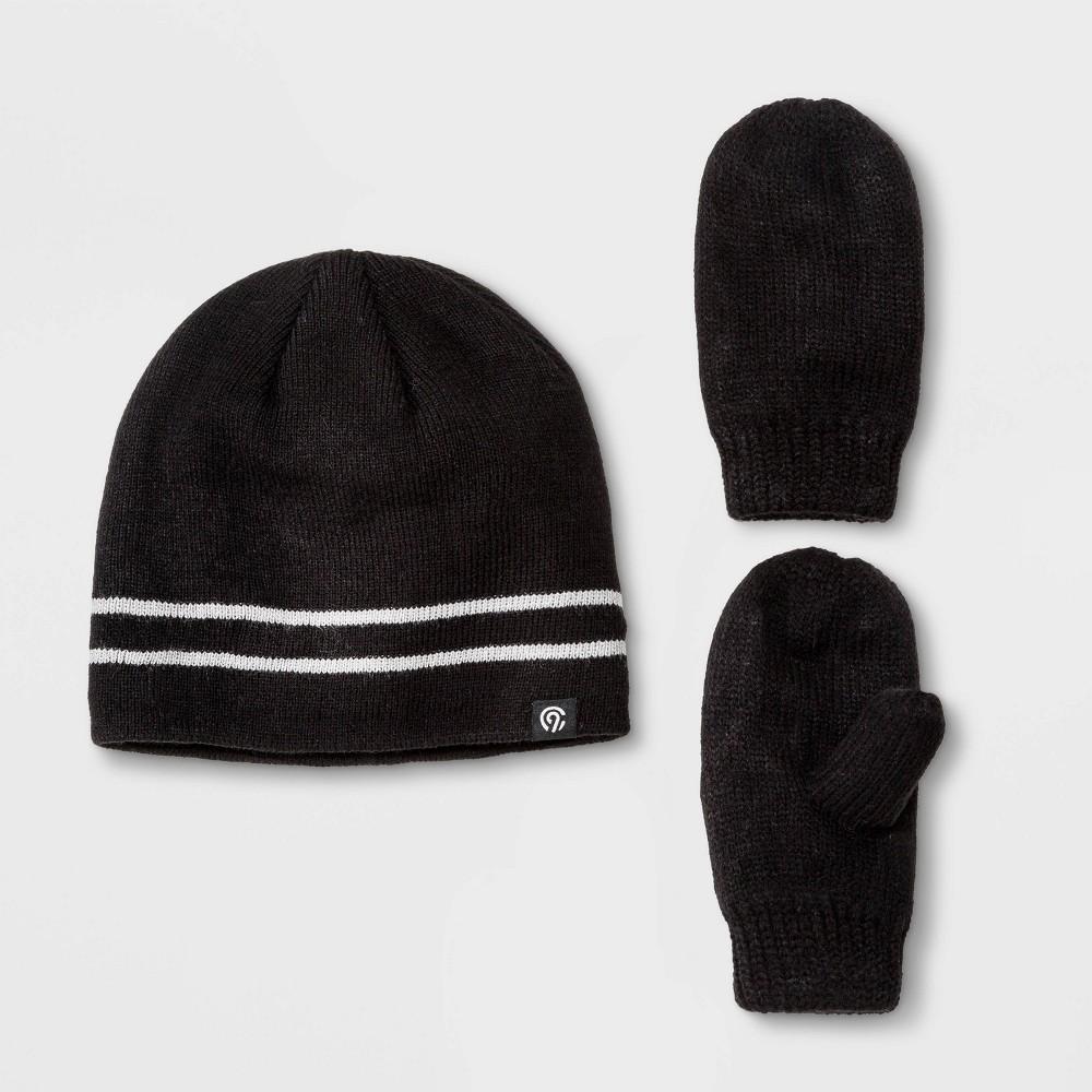 Image of Baby Boys' Hat & Gloves Set - C9 Champion Black 12-24M, Boy's, Size: Small, Gray Black
