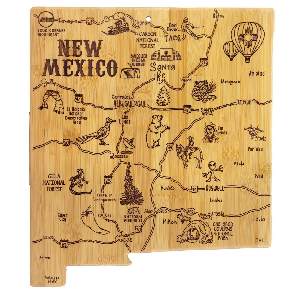 Promos Totally Bamboo Destination New Mexico Serving and Cutting Board