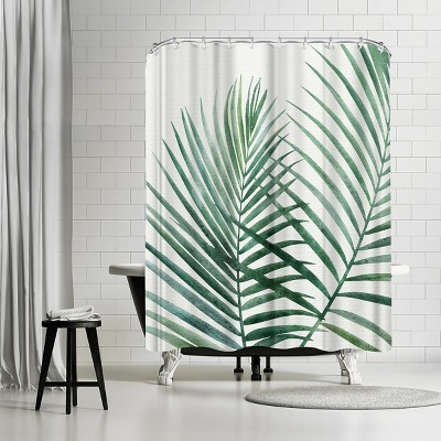 "Americanflat Emerald Palms by Modern Tropical 71"" x 74"" Shower Curtain"