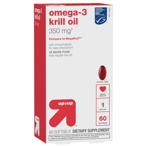 Omega-3 Krill Oil Dietary Supplement Softgels - 60ct - Up&Up™ - image 1 of 4