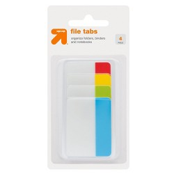 File Tabs 4 Pads 36ct Tabbed Multicolor - Up&Up™