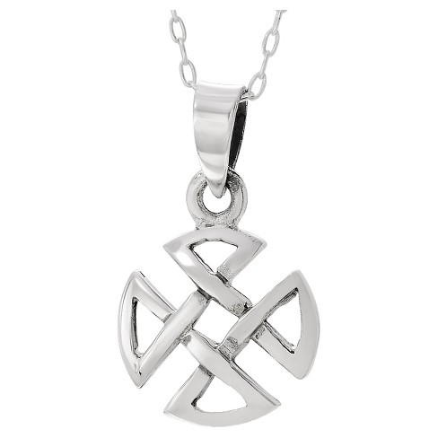 "Women's Journee Collection Circular Celtic Cross Pendant Necklace in Sterling Silver - Silver (18"") - image 1 of 2"