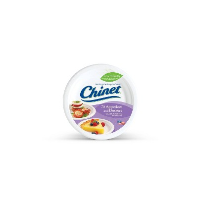Chinet Dessert Disposable Plate - 70ct