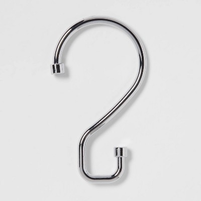 S Hook Without Roller Ball Shower Curtain Rings Chrome - Made By Design™