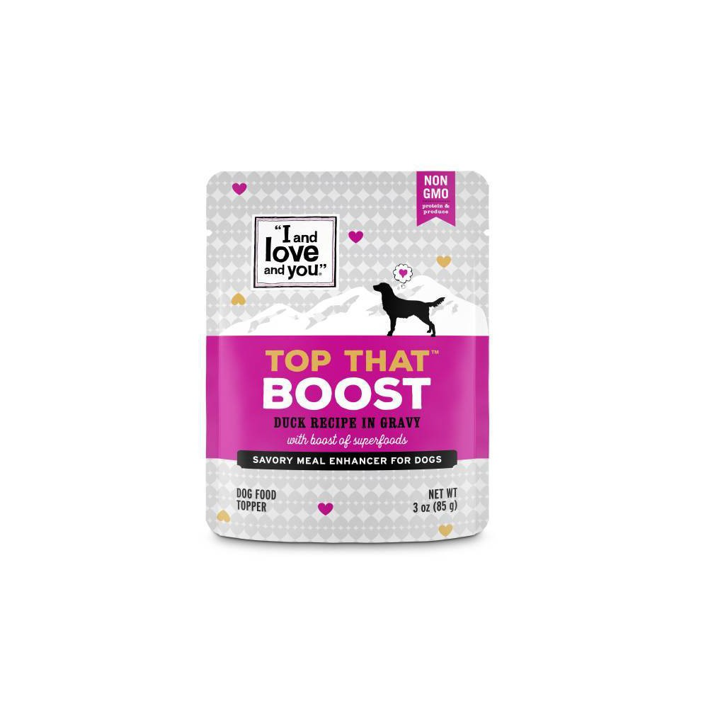 I and Love and You Top That Wet Dog Food Topper Boost Duck Recipe In Gravy - 3oz