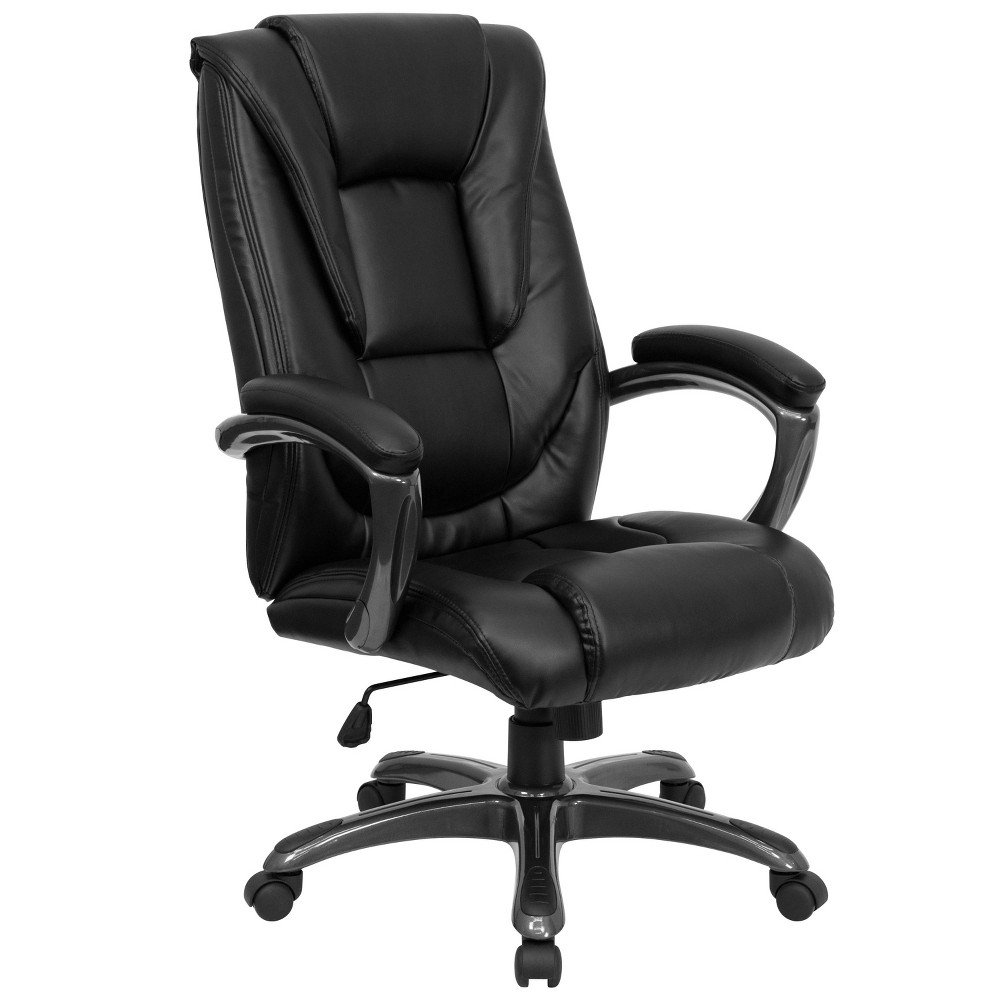 High Back Executive Swivel Office Chair Black Leather - Flash Furniture