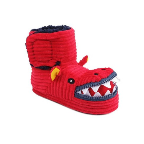 Toddler Boys' Lindell Dinosaur Slippers - Cat & Jack™ Red - image 1 of 4