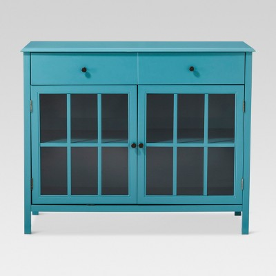 Windham 2 Door Accent Buffet, Cabinet with Shelves - Teal - Threshold™