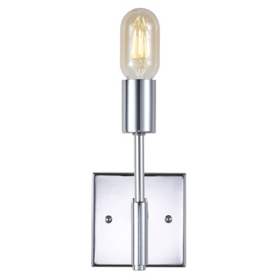 """11.7"""" Metal Turing Wall Sconce (Includes Energy Efficient Light Bulb) Silver - JONATHAN Y"""
