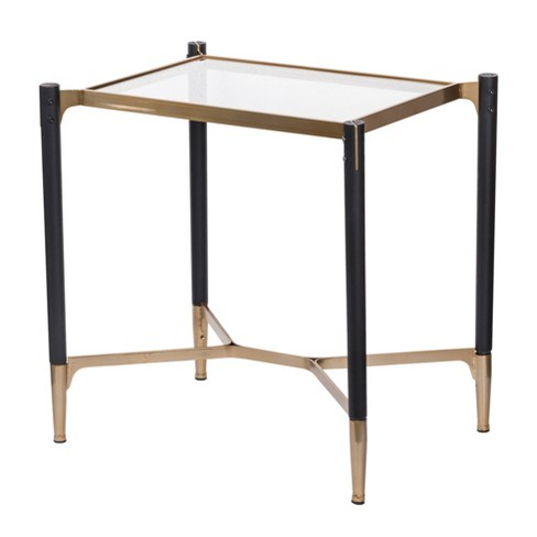 Park View Rectangle Occasional Side Table Black/Gold - A&B Home - image 1 of 1