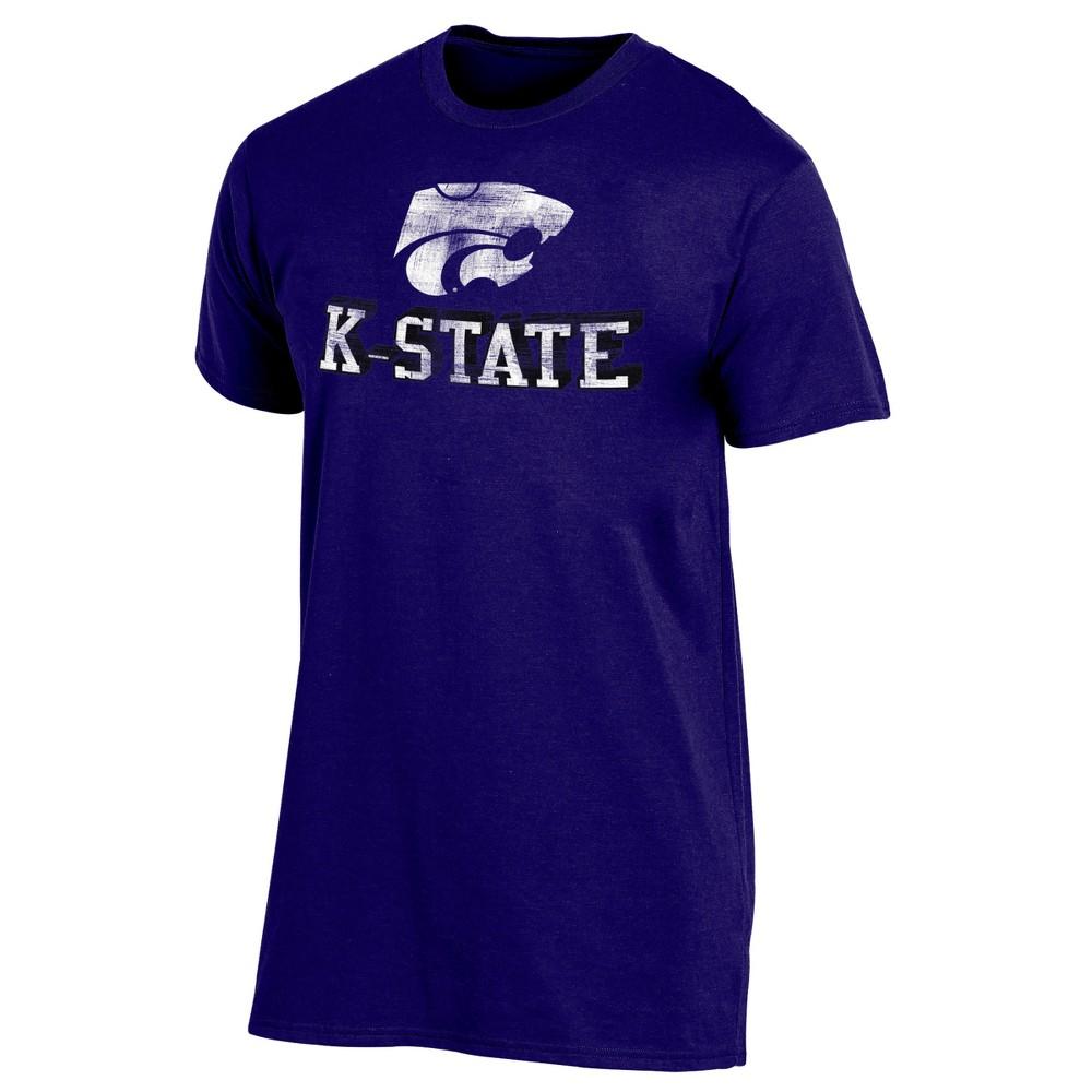 Kansas State Wildcats Men's Short Sleeve Keep the Lights On Bi-Blend Gray Heathered T-Shirt XL, Multicolored