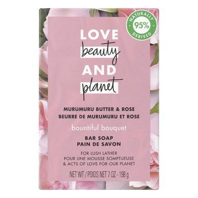 Love Beauty & Planet  Bountiful Bouquet Bar Soap Murumuru Butter & Rose - 7oz