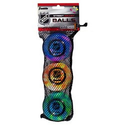 Franklin Sports NHL Extreme Color High Density Street Hockey Ball - Blue (3 Pack)