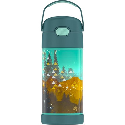 Thermos 12oz FUNtainer Water Bottle with Bail Handle - Evergreen Trees