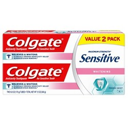 Colgate Sensitive Toothpaste Whitening Fresh Mint Gel - 6oz/2pk