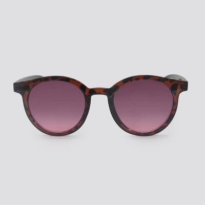 Women's Animal Print Round Plastic Silhouette Sunglasses - Wild Fable™ Brown