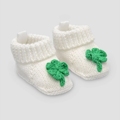 Baby Shamrock Slipper Nb - Just One You® made by carter's White Newborn