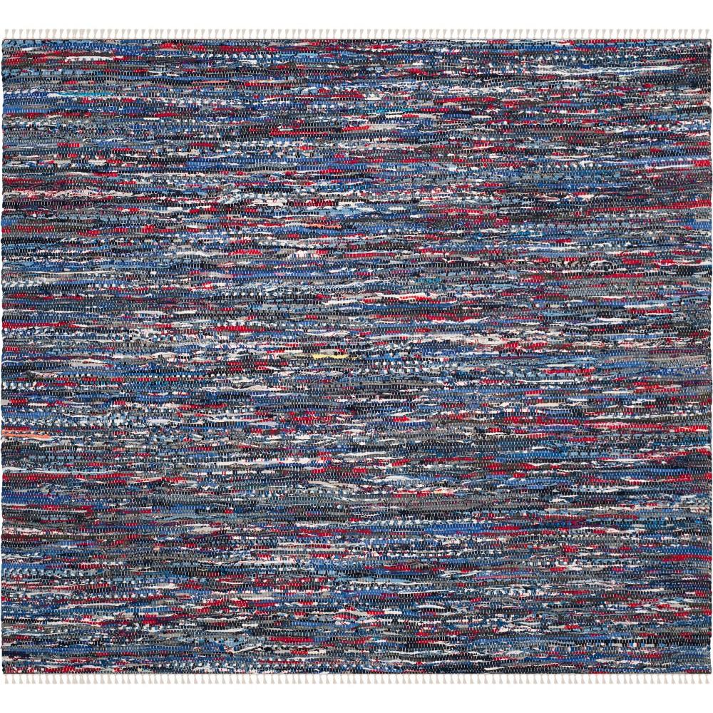 6'X6' Spacedye Design Woven Square Area Rug Blue - Safavieh, Blue/Multi-Colored