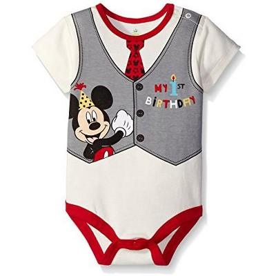 Disney Baby Boy's 1st Birthday Party Creeper with Character Print