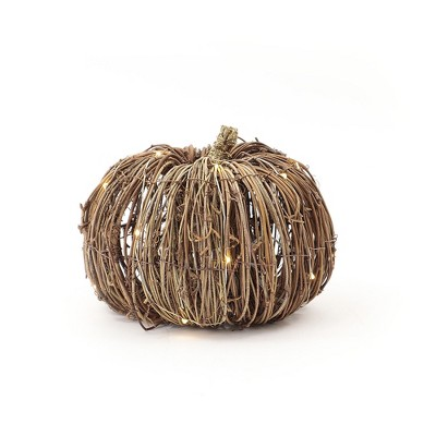 Small Grapevine Pumpkin Decor