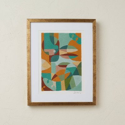 """16"""" x 20"""" Abstract Print Framed Under Glass - Opalhouse™ designed with Jungalow™"""