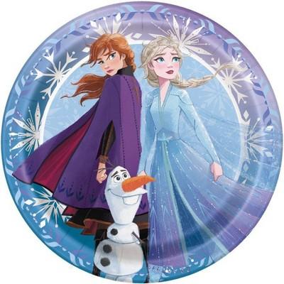 """Birthday Express Frozen Party Frozen 2 7"""" Dessert Plates - 8 Pack"""