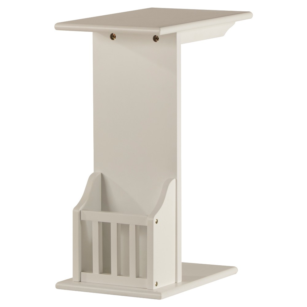 Image of Patton Magazine Rack Accent Table - White - Inspire Q