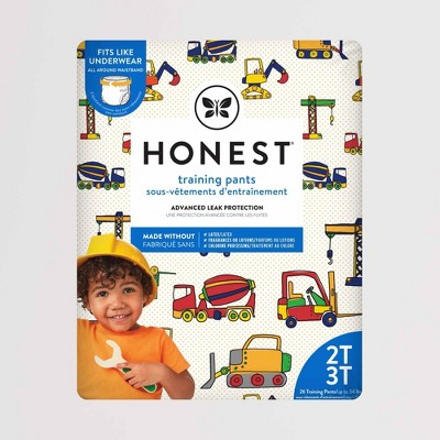 The Honest Company Training Pants Construction Zone Size 2T-3T - 26ct