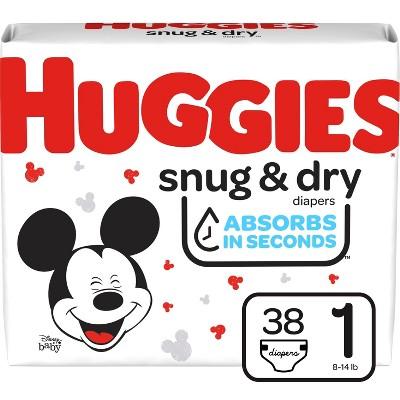 Huggies Snug & Dry Diapers - Size 1 - 38ct
