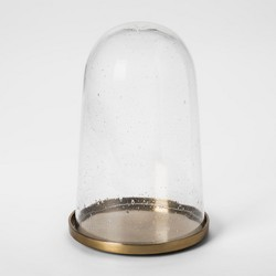Decorative Cloche with Metal Base Gold - Smith & Hawken™