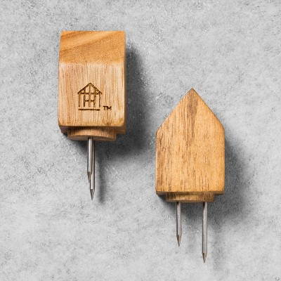 Acacia House Wooden Corn Holder Set of 2 - Hearth & Hand™ with Magnolia