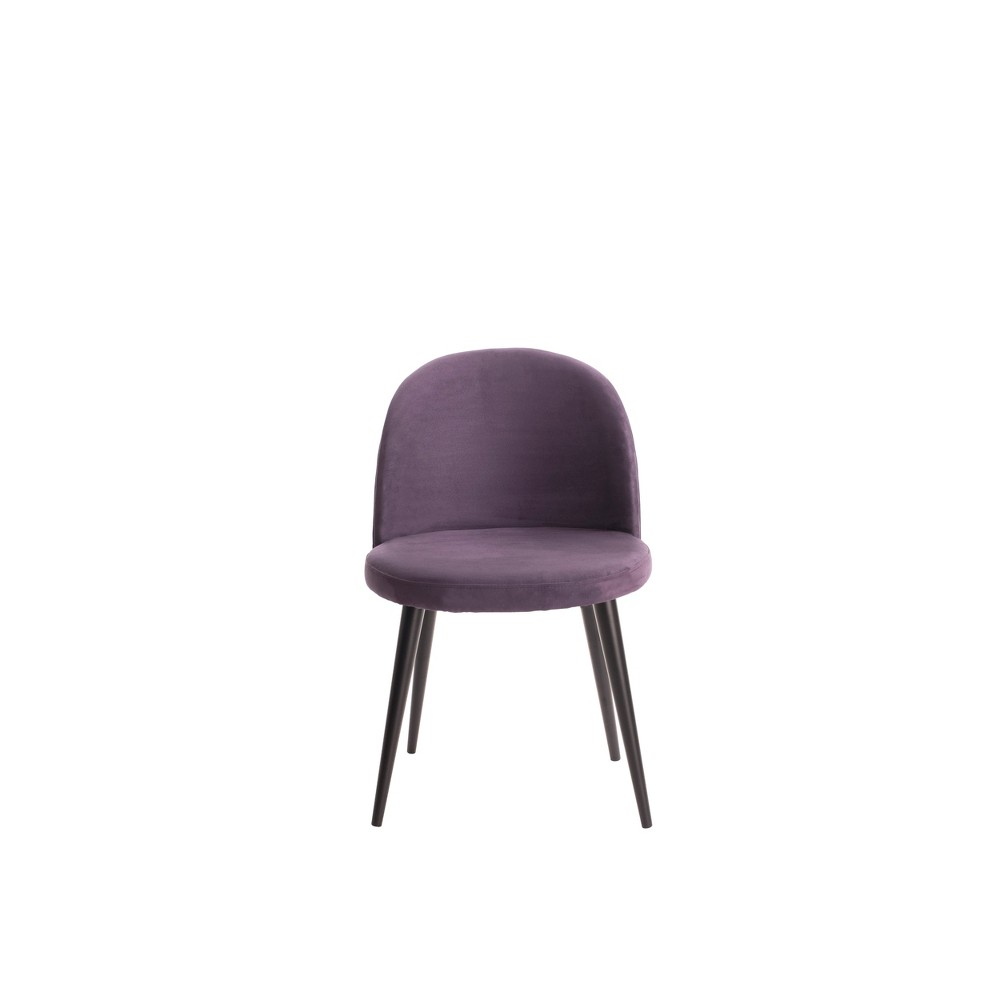 Image of Cami Vanity Chair Violet (Purple) - Adore Decor