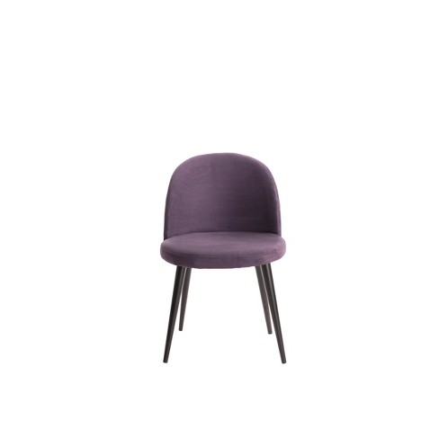 Cami Vanity Chair Violet - Adore Decor - image 1 of 6