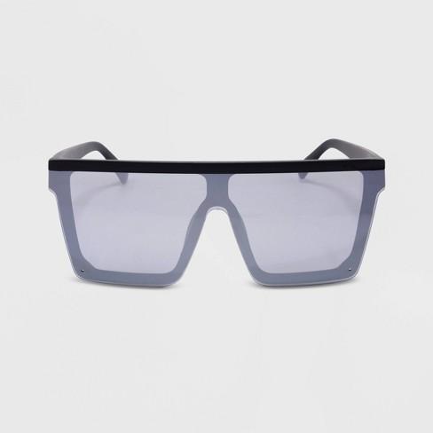 Women's Square Plastic Sunglasses - Wild Fable™ Black - image 1 of 3