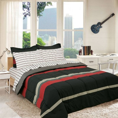 Rugby Striped Super Soft Bed in a Bag - Brooklyn Flat