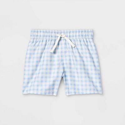 Toddler Boys' Gingham Swim Shorts - Cat & Jack™ Blue