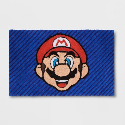 "Nintendo Wordly Mario 2'5""x4' Elevated Rug"
