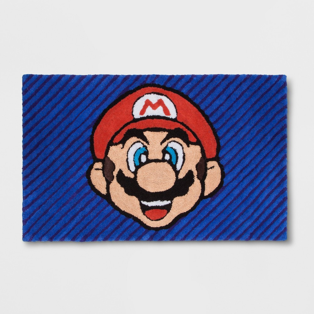 Image of Nintendo Wordly Mario 2'5x4' Elevated Rug, Multi-Colored