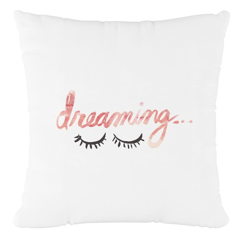 Pink Dreaming Throw Pillow - Cloth & Co - image 1 of 4