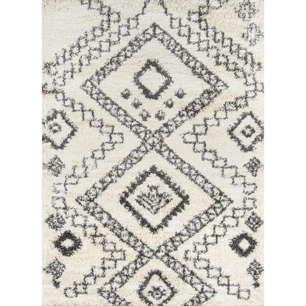 9'3X13' Geometric Area Rug Ivory - Momeni, White Gray