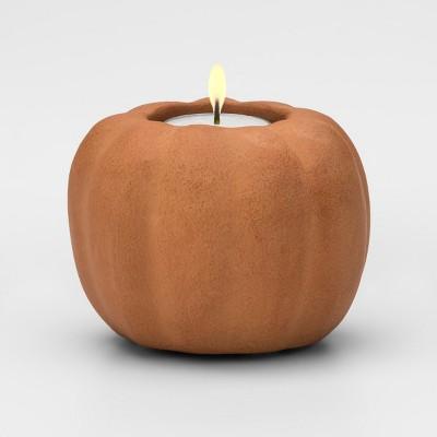 Candle Holder Pumpkin - Orange - Threshold™